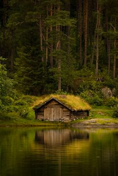 Norwegian boathouse.  Photographed by Geir Drabløs.