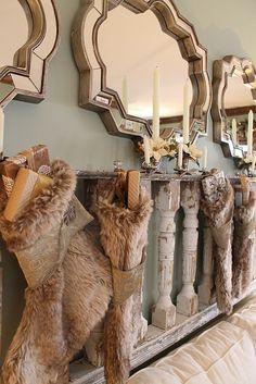 mirror, holiday ideas, 2011 holiday, high heel, fur