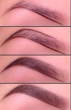 How to pencil in eyebrows.   :)