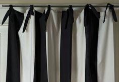 black and white stripe curtain