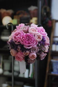 Pink × Purple bridal bouquet