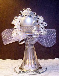 Elegant Glass Angel Craft