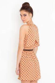 Dot cutout dress