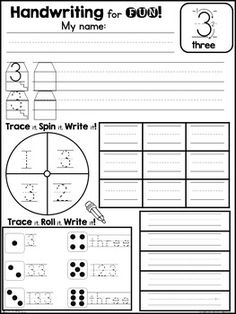 *FREEBIE* Interactive Number Writing Practice