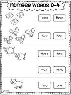 Number Word Practice 0-10$