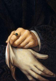 Portrait of Joris Jacobs Vezelaer (detail), Joos van Cleve, 1518