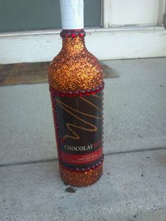 Blinged out, bedazzled bottle