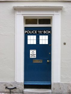 OMG. A tardis door vinyl sticker. I want one. And I want a Dr. Who costume party to go with it.... #DrWho