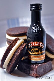 Chocolate Stout & Baileys Buttercream Whoopie Pies cake, bailey buttercream, chocolates, chocol stout, food, whoopi pie, whoopie pies, bailey whoopi, dessert