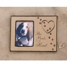 A lovely gift for someone who has lost a beloved pet. The frame expresses how much the pet owner loved his or her four-legged family member and how the pet is forever loved. A perfect remembrance keepsake to honor a pet's life, the photo frame will become a timeless treasure. $14.99 pet life, belov pet, heart, pet loss, craft idea, pet owner, frame express, dog, gift idea