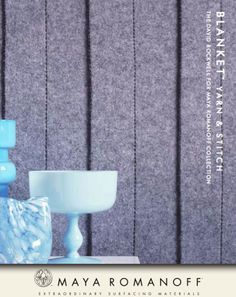 Wool wallcoverings sound mighty cozy on a chilly day. @mayaromanoff