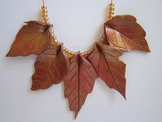 How to use real leaves to create PC leaves. (translate) #Polymer #Clay #Tutorials