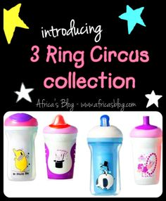 Tommee Tippee Limited Edition 3 Ring Circus Sippy Cups ~ Review & Giveaway!! (ends 3/27)