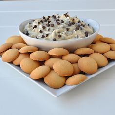 Vanilla wafers with chocolate chip dip? Yes!