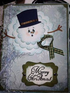 Scallop Punched Melting Snowman by sbher - Cards and Paper Crafts at Splitcoaststampers