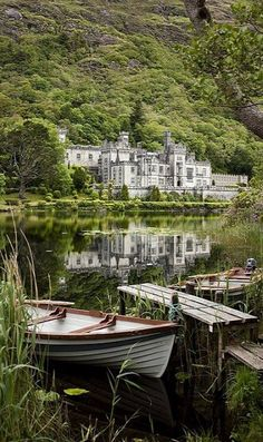 Kylemore Abbey, Ireland. Built as a home, it became an abbey in the 1920's. Galway, Ireland in Connemara.