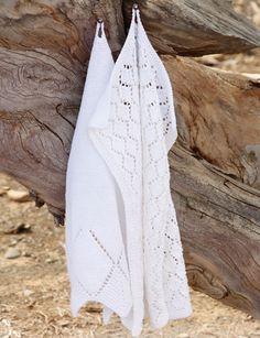 Стильные полотенца от Drops Design вязаные спицами