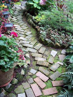 brick garden path.  Chicago