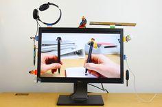 DIY Tech Ideas: LEGO and sugru desk organization on Cool Mom Tech
