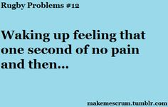 #rugby problems
