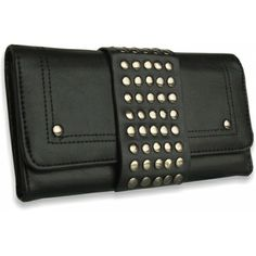 Peňaženka kožená vybíjaná Pracka, čierna 12506 - VašeKabelky.sk