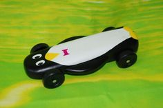 Penguin Pinewood Derby car