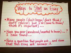 start an essay
