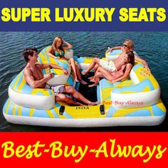 Intex Oasis Island Inflatable Lake Float Pool Water River Raft Party Tube.