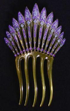 Antique Art Deco Hair Comb