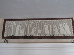 Filet Crochet Nativity