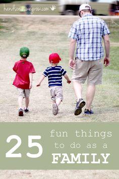 25 Fun Things to Do as a Family