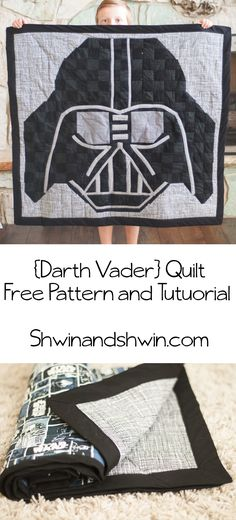 Try this Darth Vader Quilt Pattern for a homemade Star Wars Christmas gift!