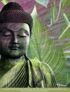 Buddha artwork   Meditation Vegetation  modern by ancientartizen