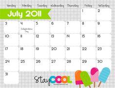 Free Printable Calendars.