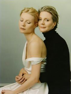 Actress Blythe Danner with daughter Gwyneth Paltrow      Photo by Annie Leibovitz.