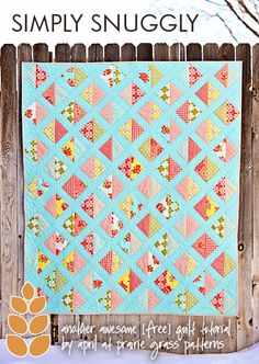 Simply Snuggly Quilt Tutorial{free pattern} and quilt kit