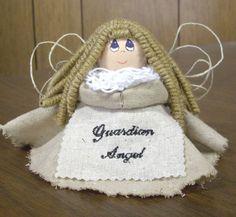 Homemade Angel Christmas Ornaments | Handmade Angel Crafts SERENITY HANDMADE HOMEMADE GUARDIAN ANGEL DOLL ...