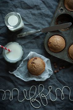 chestnut and chocolate muffins