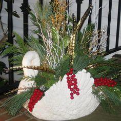 White Swan Planter