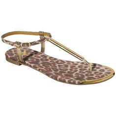 Mossimo Falk Leopard Print Thong Sandal   Buy one, get one 50% off @ Target