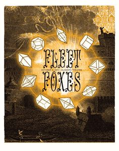 Fleet Foxes concert poster