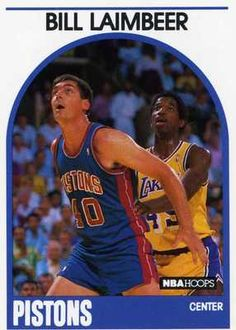 RARE 89/90 NBA HOOPS BILL LAIMBEER DETROIT PISTONS MINT