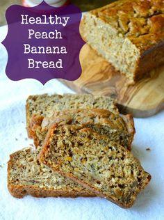 #Healthy Peach Banana Bread #wholegrain