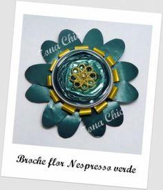 broche flor nespresso verde broche cápsulas de nespresso,botón ---