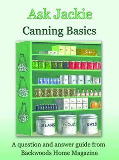 FREE e-Book ~ Ask Jackie: Canning Basics! #canning