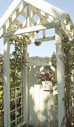 Garden Gate, think 2 of these would go well w/pergola porch!