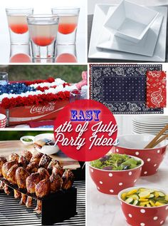 4th of July party decorating ideas as seen on http://www.skimbacolifestyle.com/2012/06/easy-4th-july-party-ideas.html