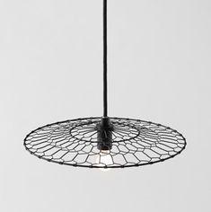Nendo bases wire Basket Lamp on Japanese kitchenware.