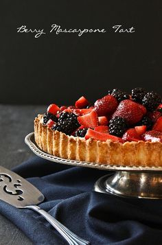 Berry Mascarpone AlmondTart