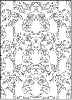 Art Nouveau Patterns Coloring Book   Dover Publications
